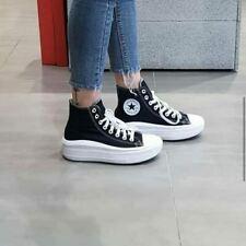 Converse All Star Platform Black Move suola alta zeppa 4 cm sneakers 2020 Tela