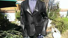 Scully Leather L161 Black Lamb Leather Women's Blazer Jacket   (M)