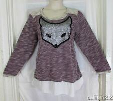 Avenue $55 Darling Flirty FOX Merlot White Black Silver 2Fer Top 3X 22/24 NWT