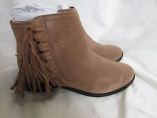 LADIES SUEDE TASSEL ANKLE BOOT  SIZE 6