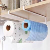 Under Cabinet Paper Roll Rack Kitchen Tissue Hanger Towel Holder Accessories