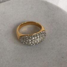 PREMIER DESIGNS Ring Size 7 Vintage Cz Gold Tone Signed PD Inside Rare Find