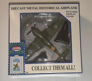 Model Power Postage Stamp Planes 5352 Focke Wulf 190 1/100 Series Diecast NEW