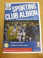 29/09/2013 West Bromwich Albion Sporting Club Ladies v Bradford City Women [At H