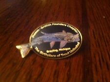 Trout Unlimited Founder Chapter Lapel Pin Brook Trout Birthplace of TU Hat Patch