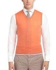 Black Fleece Brooks Brothers by Tom Browne Orange Vest Size BB3  L MSRP $300