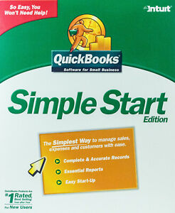 Intuit QuickBooks Simple Start Edition CD-ROM for Windows 98/2000/XP
