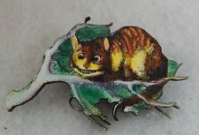Alice in Wonderland Cheshire Cat Brooch or Scarf Pin Multi-Color NEW Wood
