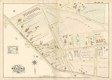 1884 AH MUELLER, READING, BERKS COUNTY, PA, STREET CAR RAIL ROAD, COPY ATLAS MAP