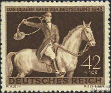 Duits Empire 854 (compleet.Kwestie.) gestempeld 1943 Bruin Binden Paardenraces