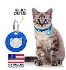 Cute Cat Id tag for collars Custom Engraved Pet Shiny Kittens Personalized tags