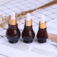 10/20/30ml Amber Glass Dropper Bottle essential Oil Perfume Bottles EmptyBB