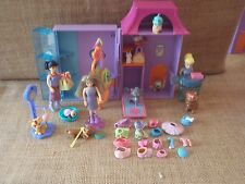 Polly Pocket Pet Salon Groomer Store House Playset Dogs Cats Doll Accessory P84