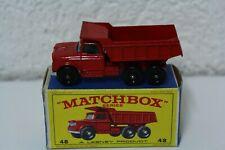 Matchbox series Lesney Dodge Dumper Truck camiones no 48 vintage old