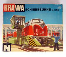Vintage BRAWA 1130 Gauge Spur Voie N Travelling Platform N , SCHIEBEBUHNE N