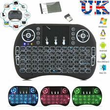 LED Backlit 2.4Ghz Mini Wireless Keyboard Touchpad For Android TV Box PC Laptop