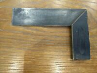 "Antique Stanley Try-Square 6"" Wood & Brass Carpenter's Woodworking Tools Pa. 98"