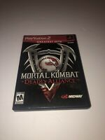 GREATEST HITS Mortal Kombat: Deadly Alliance - PS2 - Complete W / Manual