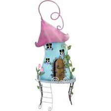 The Secret Garden Metal Hand Painted Miniature Fairy Tree House Fairies Ornate