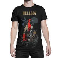 Hellboy Comics T-Shirt, Premium Cotton Tee, Men's All Sizes
