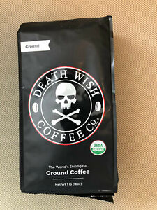 Death Wish Coffee 50251G Roasted Ground Coffee Beans, 16 oz.