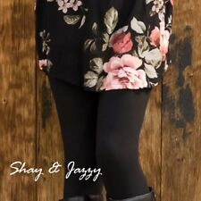THE BEST PLUS SIZE BUTTERY SOFT LEGGINGS SOLID BLACK FOR CURVY AND TALL WOMEN