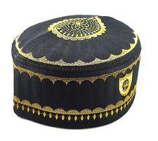 Alwee ALW001 Men's Muslim Prayer Hat Skull Cap Islam Kufi Black White (24...
