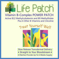 LIFE PATCH Vitamin B12 COMPLEX * w/ B-12 5000mcg Methylcobalamin *  6 Patches