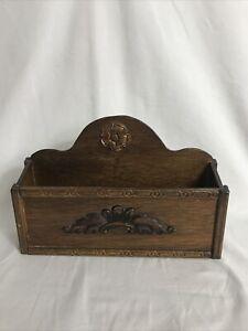 Lovely Vintage Wooden Letter Rack Desk Tidy 1 Compartment Decorative VGC