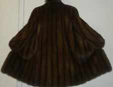 Saks Fifth Avenue Russian Sable Silver Tip Sable Fur Jacket Coat Size 8-10