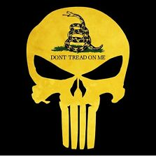 Punisher Skull Gadsden Flag Dont Tread On Me Sticker Decal Usa Made