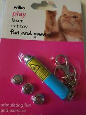 Interactive Laser Cat Toy, Attach To Keys, With Replacement Batteries