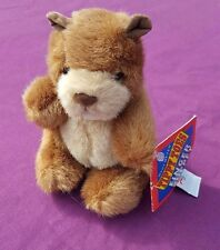 """MARY MEYER TIPPY TOES WHITTLES BEAVER FINGER PUPPET STUFFED PLUSH SOFT TOY 5"""""""