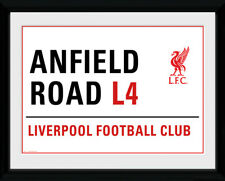 Liverpool Anfield Street Sign Football Soccer Framed Poster Print 40x30cm
