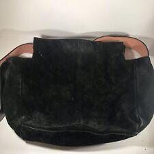 Zara Woman Bags-Trafaluc Black Suede Leather Authentic Large Purse Bag Tote EUC