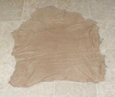 (SHA9627-7) Hide of Tan Brown Lamb Suede Leather Hide Skin