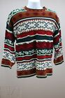 Unisex UGLY Christmas Sweater acrylic blend metallic threads Mens Med??