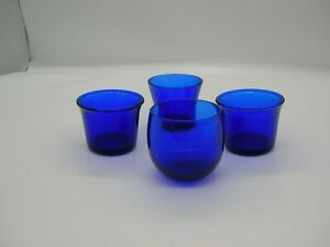 4 Miscellaneous Cobalt Tealight / Votive Holders