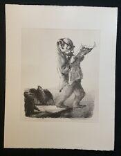 A. Paul Weber, Vorsicht! II Version […] , Lithographie, 1989, aus dem Nachlass