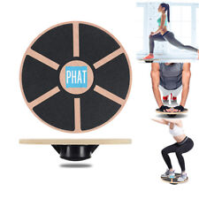 PHAT® Wooden Wobble Board Non-Slip Balance Training Exercise Rehabilitation Aid