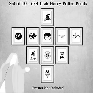 Set of 10 6x4 inch Harry Potter Prints Hogwarts Picture Print Only Unframed