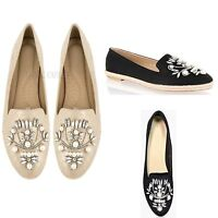 75f70bb9b55a Womens Ladies Slip On Loafers Diamnate Casual Fashion Pumps Mocassins Shoes  Size