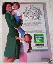 1987 print ad page -No Nonsense Pantyhose Mom little girl boy vintage hosiery AD