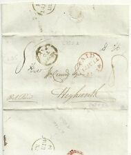 1834 PART LETTER BILL OF EXCHANGE LONDON MORE TO PAY IN CIRCLE L253A > HIGHWORTH