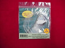 Rio Tarpon Leaders 60lb Fluorocarbon 3 Pack GREAT NEW