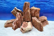 Pro en pierres décoration aquarium Bois pétrifié rouge/brun 2-3 kg AQUASCAPING