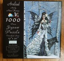 "1000 PIECE JIGSAW FANTASY THEME, ""Aveliad"" from Sunsout, Made in USA, 19"" X 30"""