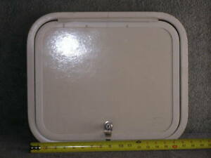 RV Trailer Van Cargo Bay Access Hatch Door W/ Frame / lock w/ key 18 x 15.25