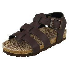 Sandales marron en synthétique pour garçon de 2 à 16 ans