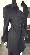 BURBERRY  ❤️ Trenchcoat * Wolle * Schwarz * Gr. 38